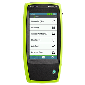 The AirCheck G2, which arms technicians with easy-to-understand insights to 802.11ac wireless networks that help reduce costly escalations
