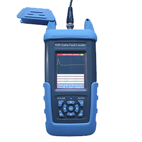 ST612 Cable Fault Locator TDR (Time Domain Reflectometer) is affordable and easy-to-use equipment for metallic cables. ST612 can measure fault locations, such as broken lines, cross-connection faults, earth leaks, poor insulation and poor contacts up to 8 km distance. Measurement resolution is 1 meter and dead zone 0 meters.