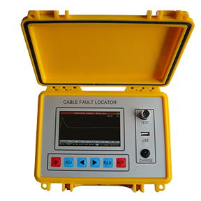This cable fault locator is designed for ease of use. It combines with both time domain reflectometer (TDR, pulse reflection testing ) and intelligent bridge testing (Bridge) for measuring the exact fault location such as the broken line, cross faults, earthing, poor insulation and poor contact of the lead covered cables as well as plastic cables.